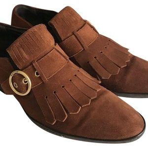Bally Brown Suede Moccasin Loafers